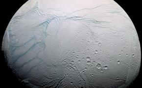 Picture planet, satellite, Enceladus