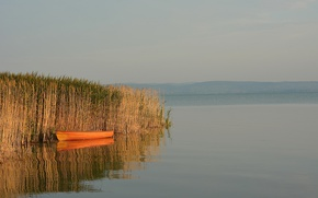 Picture Nature, Lake, Boat, Nature, Lake, Boat, The reeds
