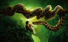 Picture Scarlett Johansson, Jungle, Fantasy, Nature, Wood, Tiger, Snake, The, Wild, Boy, Kid, Idris Elba, EXCLUSIVE, …