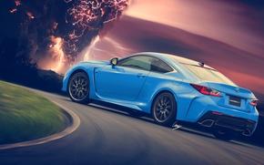 Picture lightning, Lexus, blue, rear, HansenART, Hansen Type, by ilpol my, RC-F