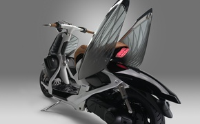 Picture wallpaper, Yamaha, bike, retro, fairy, wings, butterfly, beautiful, motorcycle, gray, scooter, retro look, cicada, folding …