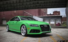 Picture Audi, green, RS7, ECS, Tuning's