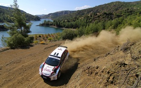 Picture dust, turn, ford, intercontinental rally challenge, ciprus 2011, al attiyah