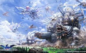 Picture fantasy, art, monster dragons