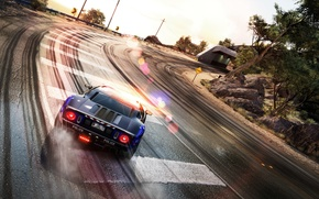 Picture road, track, the tunnel, car, Hot Pursuit, Need For Speed