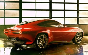 Wallpaper Flying Disc, SuperLeggera, red, beautiful, Touring, Concept, car