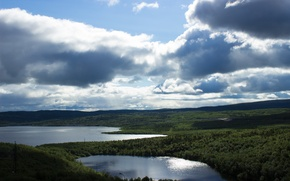 Picture forest, summer, the sky, clouds, landscape, nature, lake, mood, Murmansk