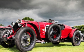 Picture retro, sports car, car, Bentley 3 4
