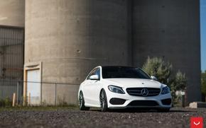 Picture machine, auto, Mercedes, Mercedes, wheels, drives, auto, Vossen Wheels, C400