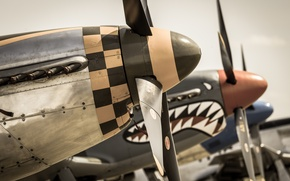 Picture aviation, fighters, the airfield, propellers