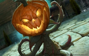 Picture Horse, World of Warcraft, The Hallows end, pumpkin.plant