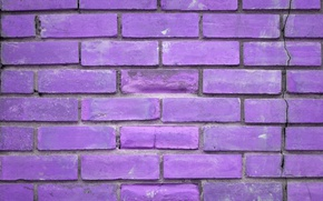 Picture Wall, pattern, Violet, Painting, Bricks