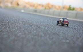 Picture car, toy, toy, citroen, street, asphalt, model, miniature, car model