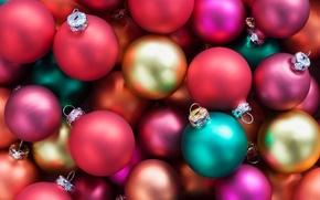 Picture glass, color, decoration, lights, balls, Shine, brightness, Christmas decorations