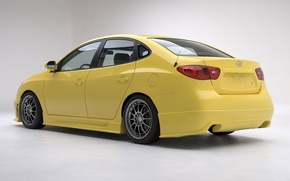 Picture Hyundai, cars, yellow, tuning, Elantra