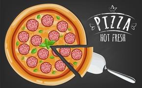 Wallpaper italian pizza, black, Pizza