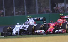 Picture Ferrari, Formula 1, Williams, Kimi Raikkonen, Valtteri Bottas, FW36, F14T