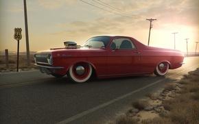 Picture sunset, tuning, GAS 24, Volga, pickup