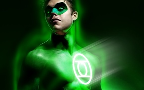 Picture mask, art, costume, Green Lantern, green lantern, DC Comics, Hal Jordan