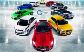 Picture Volkswagen, Blue, Ferrari, Top Gear, Green, White, Colors, BMW, Audi, Mercedes-Benz, Lamborghini, Red, Yellow, Silver, ...
