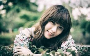 Picture smile, portrait, Oriental girl