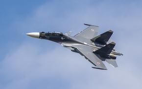 Picture flight, fighter, cabin, Russian, multipurpose, double, Su-30CM