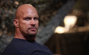 Picture look, bald, actor, wrestler, WWE, Steve Austin, Steve Austin