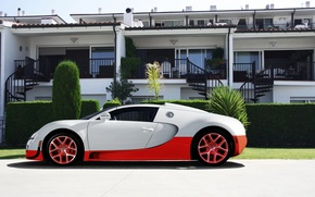 Picture white, red, Bugatti, veyron, supercar, red, white, the hotel, supercar, Bugatti, hotel, Veyron, grand sport, …