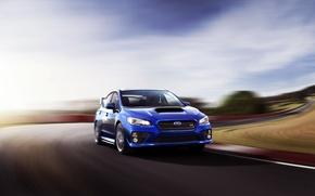 Picture Auto, Road, Blue, Subaru, Machine, Day, WRX, Car, STI, Subaru, In Motion