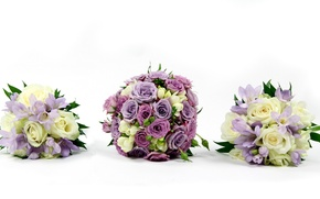 Picture flower, flowers, roses, bouquet, rhinestones, beautiful, lilac