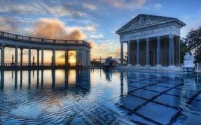 Picture city, building, places, landscape, columns