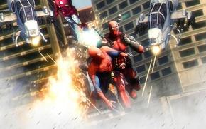 Picture Deadpool, Marvel Comics, Spider-Man, Peter Parker