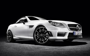 Picture Roadster, Mercedes-Benz, Roadster, black background, Mercedes, AMG, AMG, R172, SLK-Class