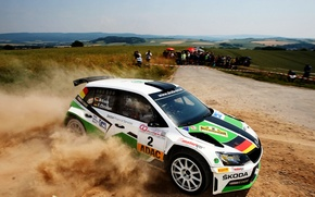 Picture Dust, Rally, Rally, Skoda, Fabia, Skoda