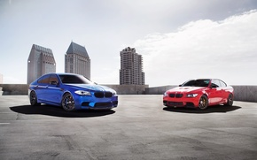 Picture the sky, blue, red, bmw, BMW, coupe, red, sedan, Blik, front view, f10, e92, monte …