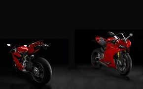 Picture double, Ducati, panigale 1199