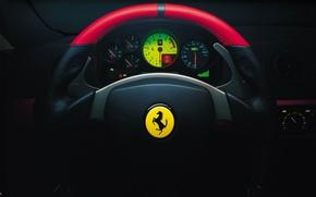 Picture Ferrari, Salon, Ferrari, The wheel