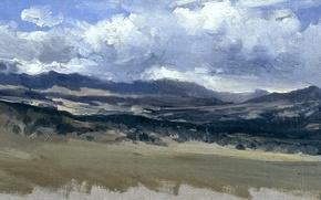Picture nature, panorama, Carlos de Haes, Mountain landscape