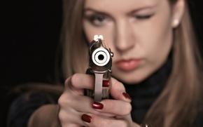 Wallpaper weapons, girl, gun