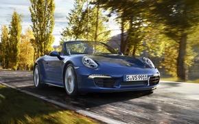Picture Road, Autumn, Trees, 911, Porsche, Machine, Speed, Convertible, Desktop, Car, Foliage, Porsche, Car, Speed, Carrera, …