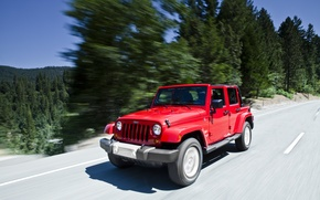Picture Red, Road, Sahara, Wrangler, Jeep, Unlimited, Sugar