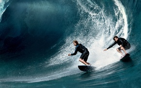 Picture sea, Board, wave, action, poster, crime, costumes, Luke Bracey, Edgar Ramirez, On the crest of ...