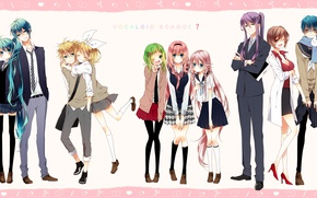 Picture girls, anime, art, guys, Vocaloid