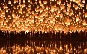 Picture Chiang Mai, Loi Krathong Festival, Floating Lanterns
