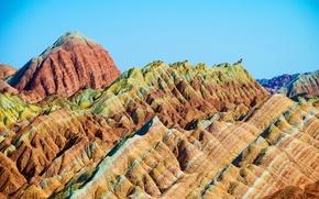 Picture mountains, nature, Park, photo, China, Zhangye, Danxia
