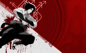 Picture blood, katana, blood, Sasuke Uchiha, sasuke uchiha