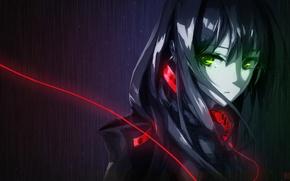 Picture girl, the dark background, art, wire, lowlight kirilenko, shibuya rin, bobba, the idolm @ ster: …