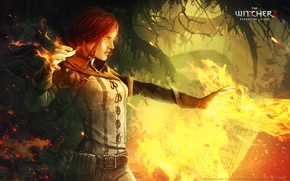 Picture fire, the witcher 2, assassins of kings, Triss