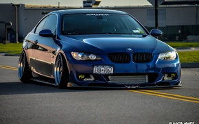 Picture bmw, BMW, turbo, blue, tuning, power, germany, low, e92, stance
