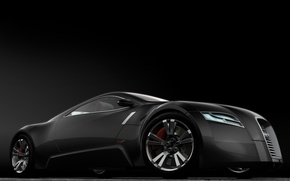 Wallpaper Concept, Audi, black